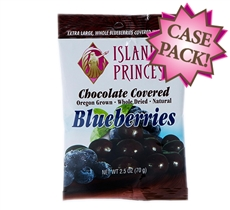 Chocolate Cover Dried Blueberries 2.5oz Snack Bag (FS Case of 24 Bags)