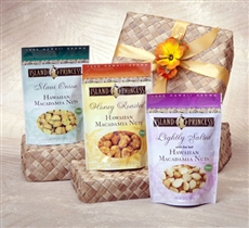 Macadamia Nut Trio in Gift Basket